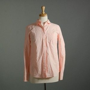 [J. Crew] Boy shirt in pink oxford stripe NWOT